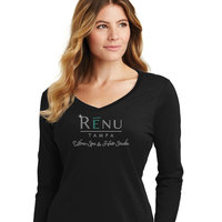 Port & Co. Ladies' Missy Fit Jersey Knit Long-Sleeve V-Neck (LPC450VLS)